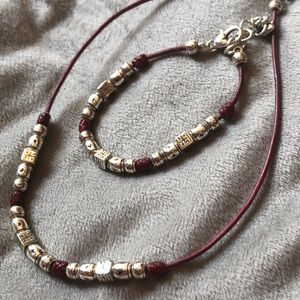 Brighton set. Necklace and bracelet.